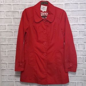 Urban Behavior Red Trench Coat Size Medium